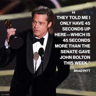Well said Mr.Pitt.