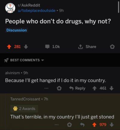 I'd rather be stoned than be hanged