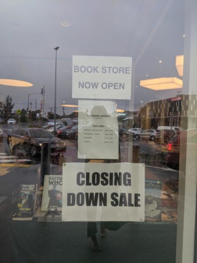 The library at my local mall recently opened up and was instantly forced to close down because lack of customers.