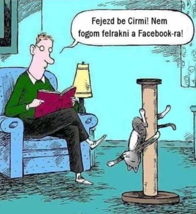 Translation : Stop it Cirmi! I will not post this on Facebook!