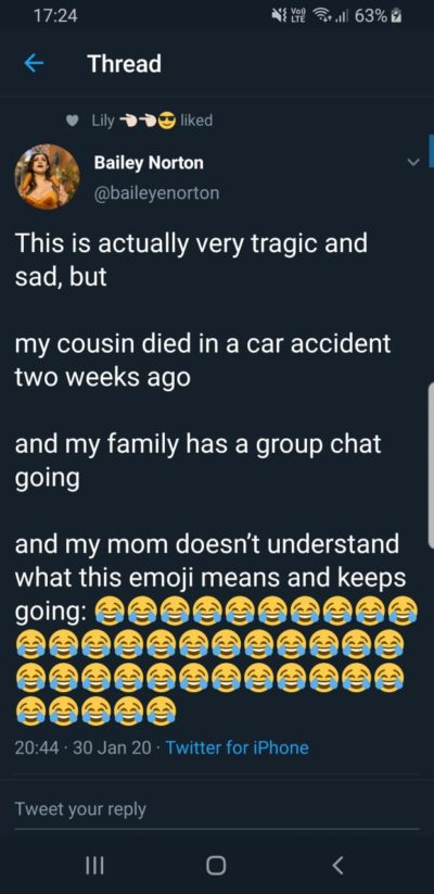 Adults and emojis