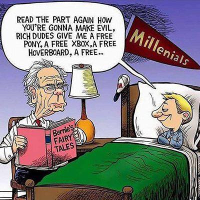 Bernie Bad, Millennials Entitled