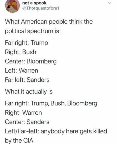 The American political spectrum