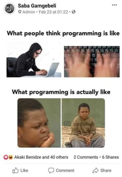 Programming perception vs reality