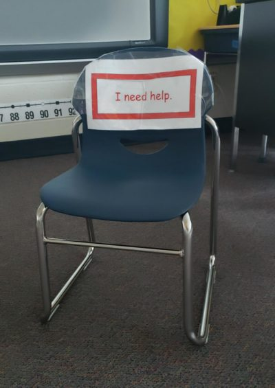 Who needs to sit here?