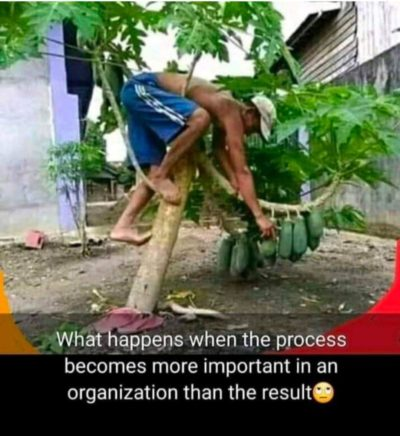 When process is more important than the result