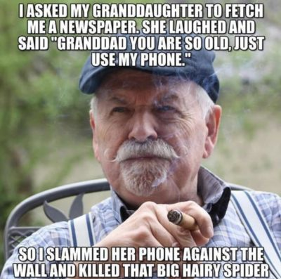 I smashed my granddaughter's phone
