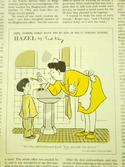 Just a reminder the boomer's parents did it too – from the March 1964 edition of the Saturday Evening Post