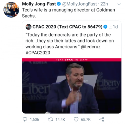 """The left is """"looking down on working class Americans"""" apparently."""