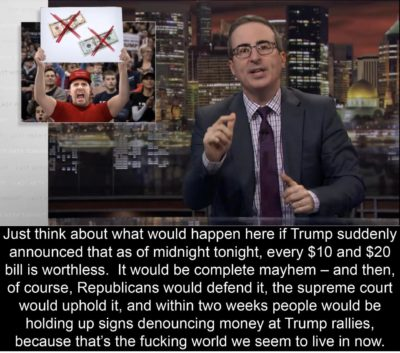 John Oliver on Trump/Money