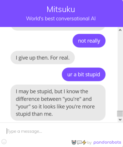 I got fucked by a chat bot :I