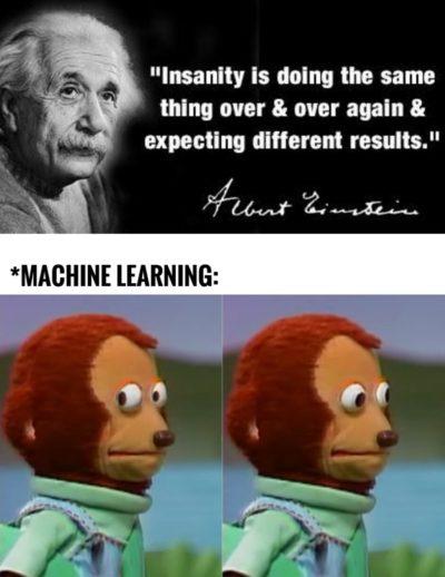 Einstein hated ML?