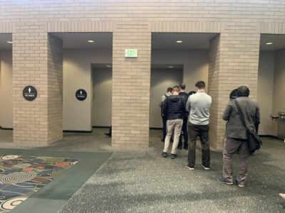 Tech summits: the one time the men's bathroom line exceeds the women's ( @ silicon slopes)