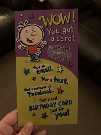 Birthday card from my granddad >:(