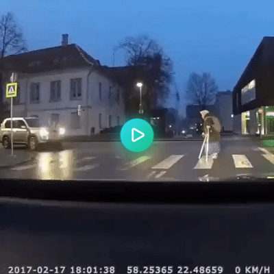 Helping babushka cross the street