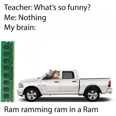 Ram ramming ram in a Ram