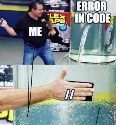 There no errors if there's no code