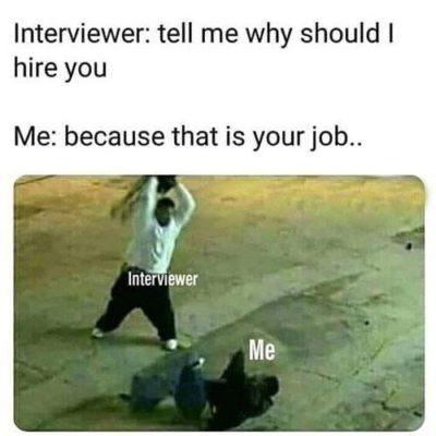 """ Interviewer & Me """