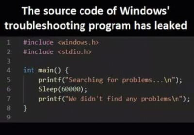 Windows troubleshooting