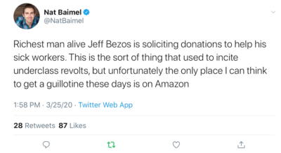 Underclass revolt against Amazon