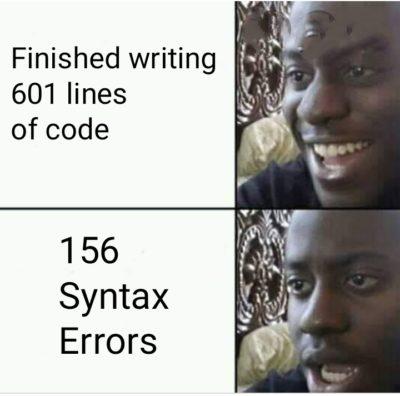 156 syntax errors