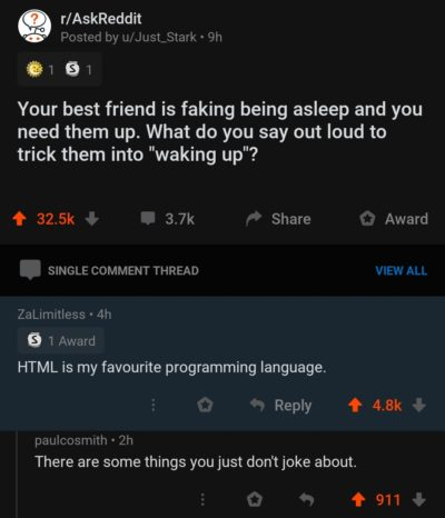 HTML keeps people awake at night!