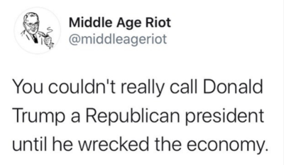 Now he's a REPUBLICAN