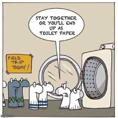 Don't need toilet paper when you have socks!
