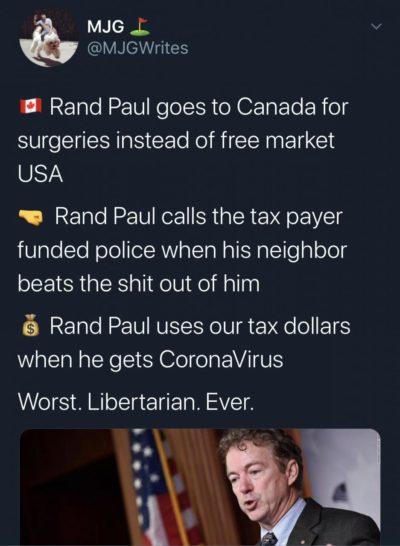 Rand Paul's neighbor 2022 🙌