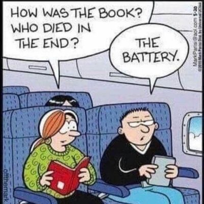 Book good, technology bad?