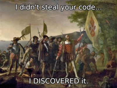 microsoft: i didn't steal your private code i own github