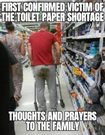 Toilet paper shortage is real :(