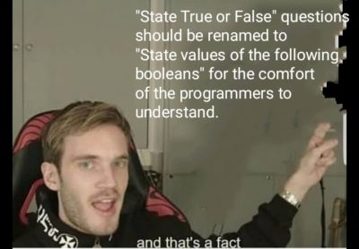 boolean fact = true;