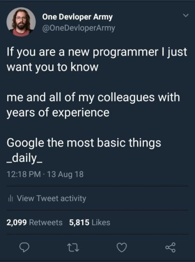If you are a new programmer