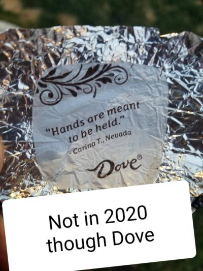 Not in 2020 though Dove