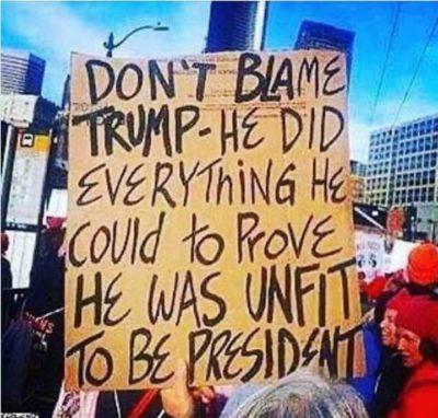 Don't blame Trump….