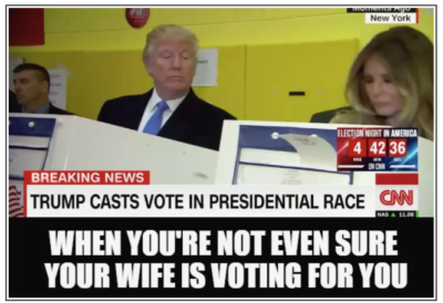 Donald and Melania Voting