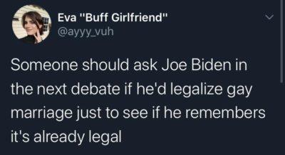 $5 dollars says he won't