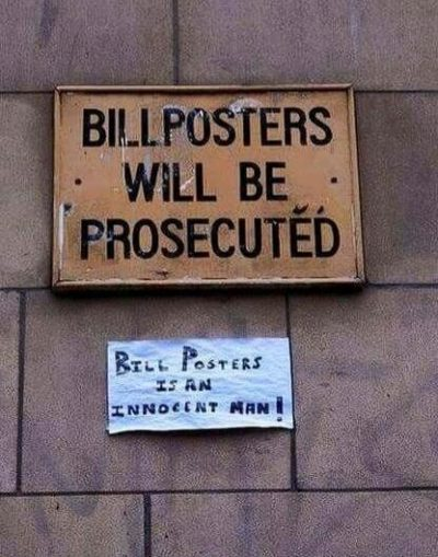 Let's fight for bill posters!