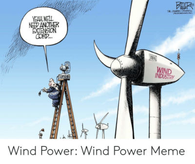 Boomers hate *flips through notes* wind energy now.