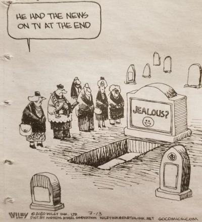In my local newspaper, very funny.