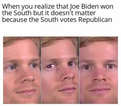 I'm sure Joe Biden will flip those red states
