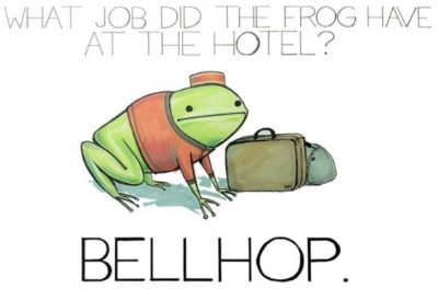 Bellhop. Day 9 of making people's day with cute puns.