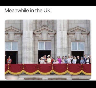 Royal distancing.