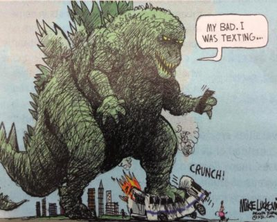 don't be a dinosaur and text