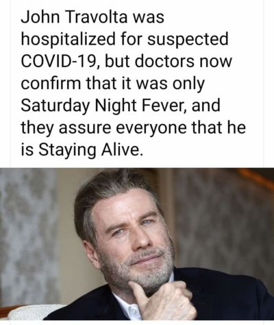 John Travolta is ok!
