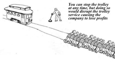 Modern day trolley problem