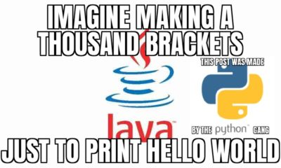 haha java bad python good