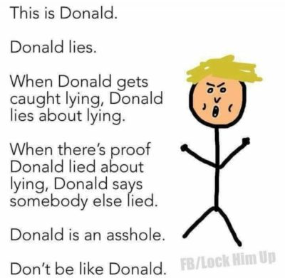 Don't be like Donald.