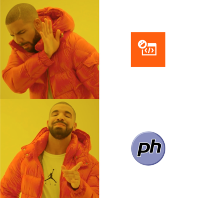 Logo with PHP was better